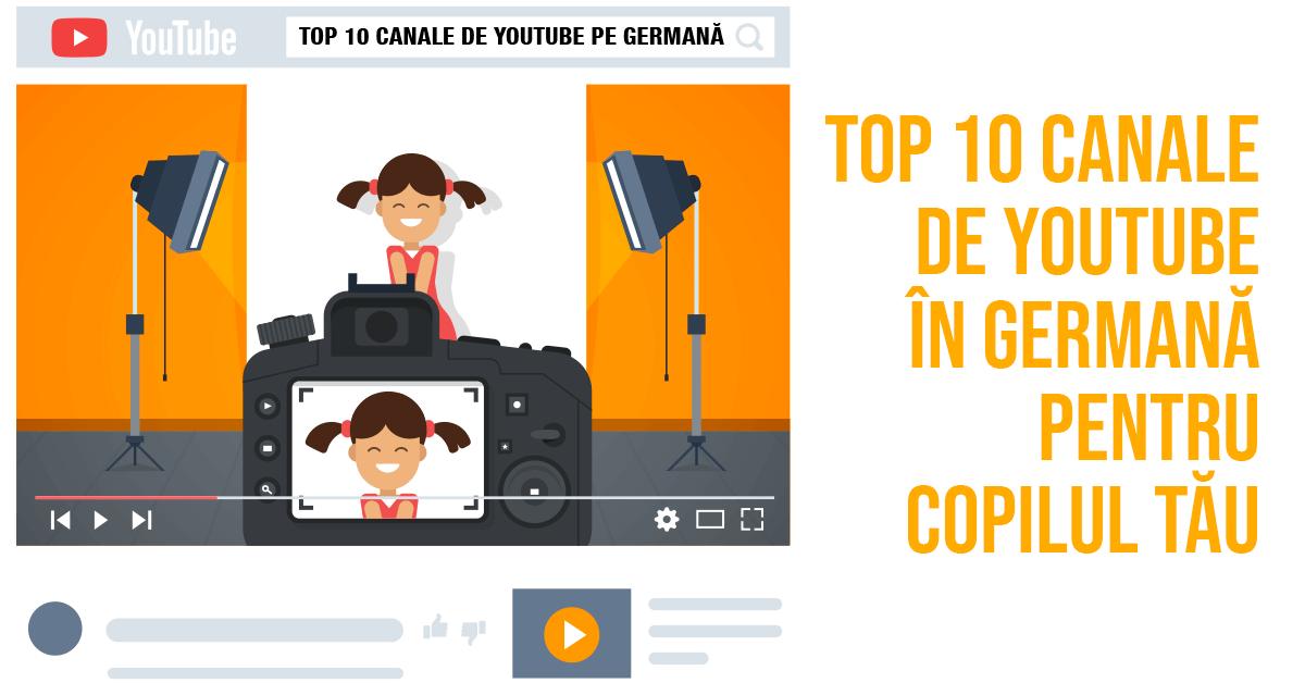 Germana pentru copii pe YouTube
