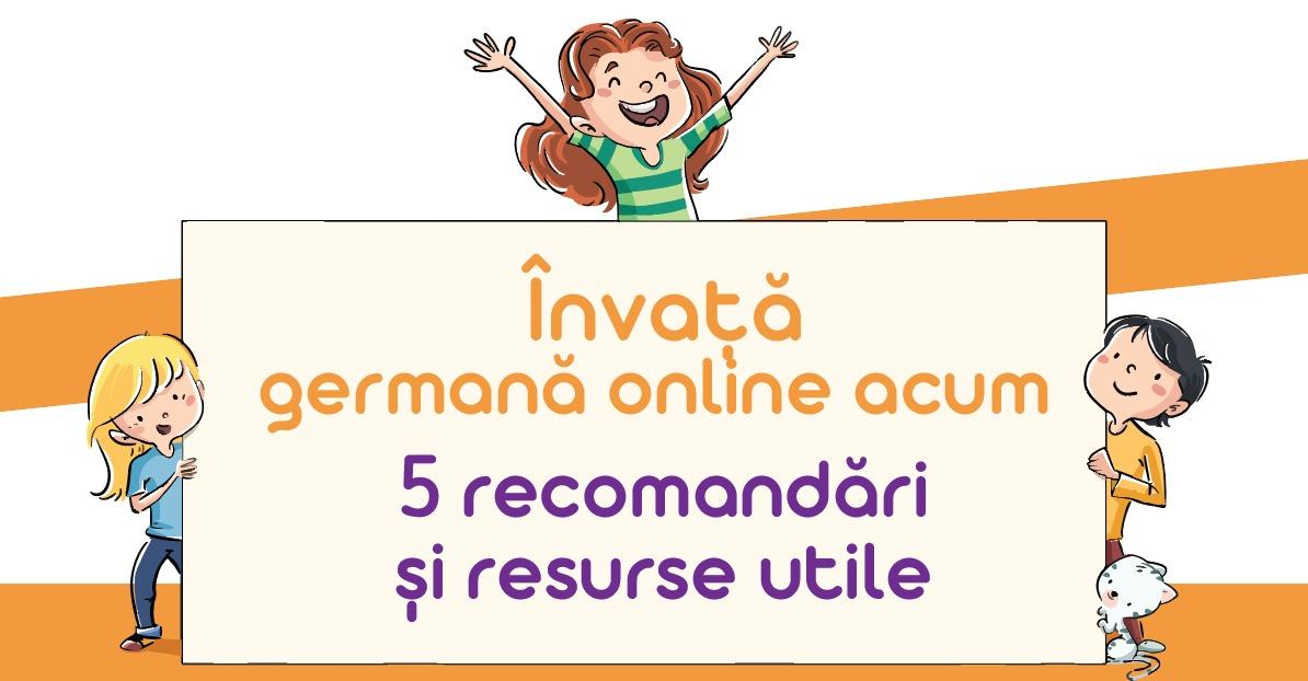 Învață germană online - cinci recomandări și resurse